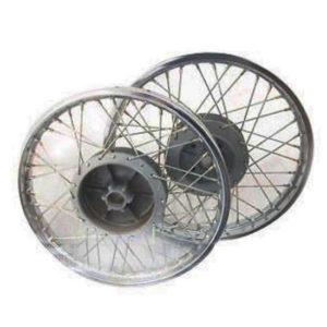 New royal enfield complete pair steel wheel rim set wm2-19