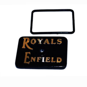 Tappet cover black with royal enfield motorcycle logo