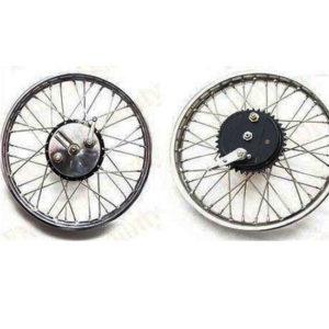Royal enfield vintage front half width wheel rim brake asslembly complete