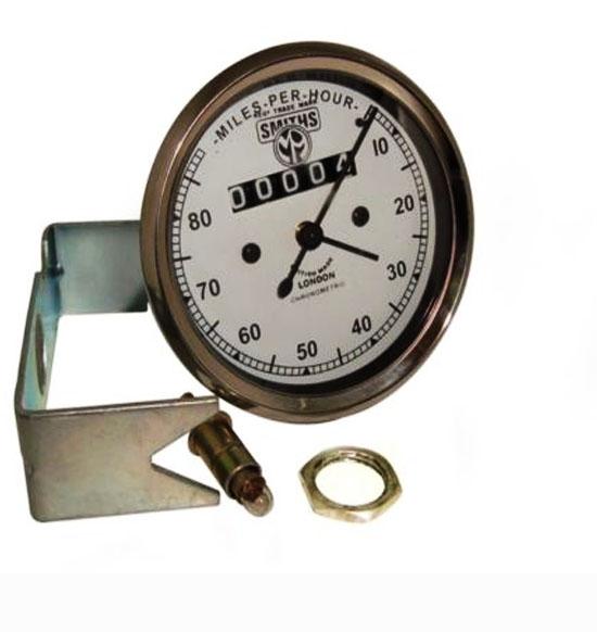 Smiths replica 0-80 mph classic white face speedometer