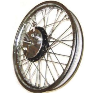 19 half width front wheel spokes & brake complete assy steel bsa norton enfield
