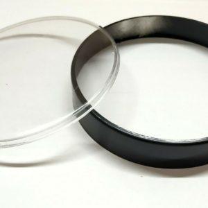 10 VESPA PX, EFL, PX DISC, T5 CLASSIC BLACK 105 MM SPEEDO RIM AND PLASTIC LENS KIT