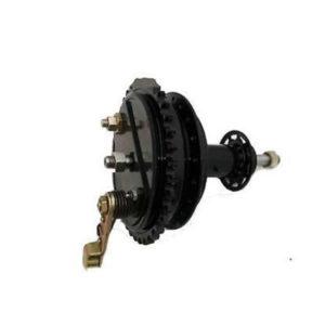 Royal enfield early model bsa half width rear wheel hub brake bearings axle