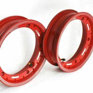 Vespa Lml Px Sprint Rally Vbb 2 X 10 Inches Red Aluminium Tubeless Wheel Rim