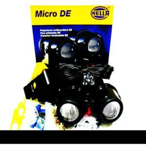 Universal hella micro de fog lights mini universal set auxiliary light