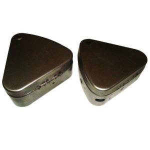 Royal enfield flat lid bare metal tool box set ready to paint