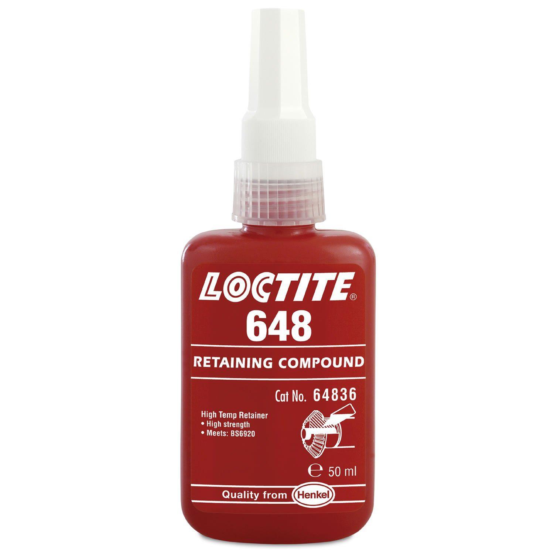 Genuine Henkel Loctite 648 X 50ml Press Fit High Strength Rapid Cure Retaining Compound Bottle