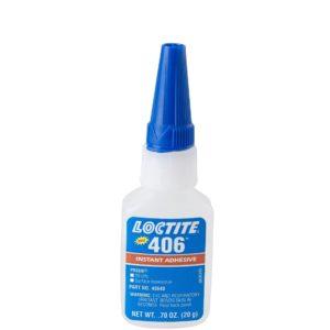 Loctite 135436 Clear 406 Prism Instant Adhesive, General-Purpose, Surface Insensitive, 20 g, 0.7 fl. oz. Bottle