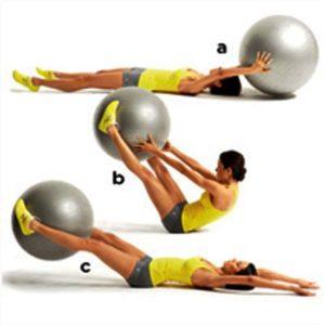Rehabilitation gym exercise ball