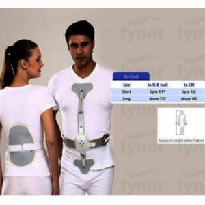 Tynor ash brace (hyper extension brace)   lower spine - long