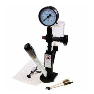 Diesel injector nozzle pop pressure tester dual gauge bar/psi with lines 0 - 400 bar / 0 - 6000 psi dual scale gauge