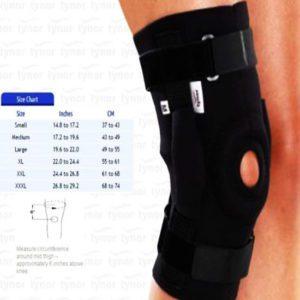 Tynor knee wrap hinged (neoprene)   iso, ce & who certified-xl