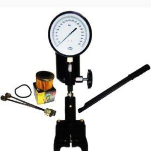 0-400 bar half inch bsp thread diesel injector nozzle pop pressure tester dual scale