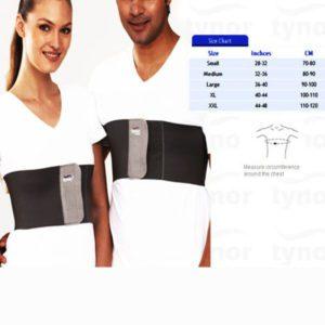 Tynor rib belt with splinting pad- small