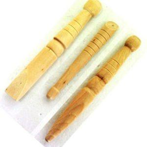 Acupressure jimmy wooden reflex - set of 3