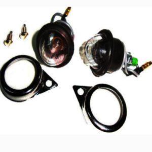 12v clear lens pilot lamp assly.with chromed rims