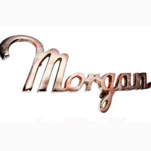 Morgan script chrome finish scripted badge
