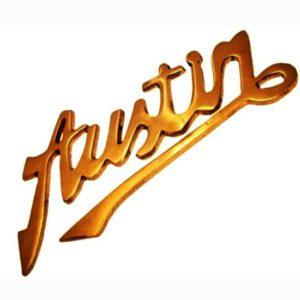 Austin 1930/40s grill script / badge brass customized
