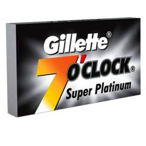 25 new gillette 7 oclock double edge safety razor blades super platinum