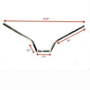 Customized harlye style 7/8 chromed handlebar fits royal enfield