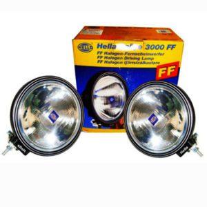 Pair hella 3000 ff side light spot driving light + cover jeep truck