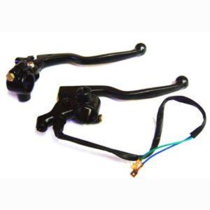 Genuine bullet minda brake and clutch lever assly black