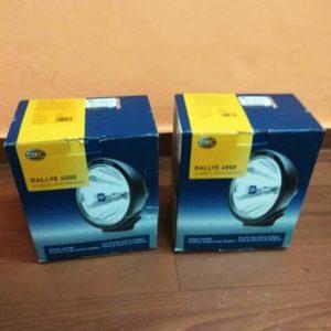 Hella 007560361 rallye 4000 halogen series pair 12v/100w black driving beam lamp