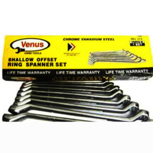 8 pc ring spanner set metric chrome plated