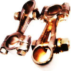 Chromed girder fork handlebar clamps 7/8 for royal enfield j j2 g g1