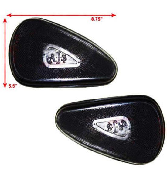 Ajs petrol tank kneepad pair (93-04519)