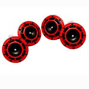 4 horns hella redgrill super tone horn sets 12v- 2 sets