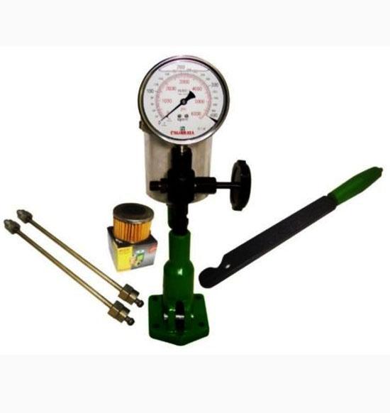 Hq 0-400 bar & 0 - 6000 psi diesel injector nozzle pop tester heavy duty glycerin filled gauge