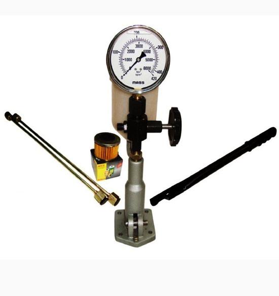 Diesel injector tester dual scale gauge glycerin filled