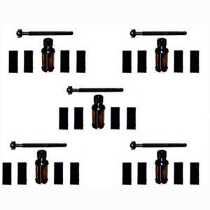 Lot of 5 cylinder engine hone kit 62 to 88 mm (machine + stones)
