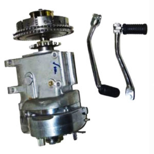 Royal enfield 5 speed gear box with kick and gear levers