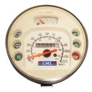 120km/h/80 mph white speedometer vespa lml for lusso 80,125,150