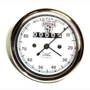 Smiths replica speedometer 0-120 m/h for vintage triumph