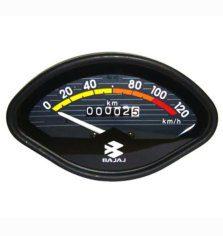 0-120 kmph bajaj black speedometer odometer for vespa