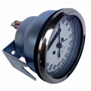10-160 km chrome white face speedometer smith chrono metric