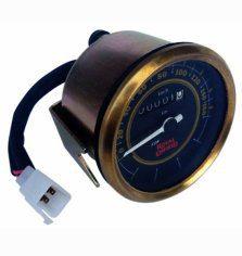 0-160 kmph royal enfield classic black face speedometer brass bezel
