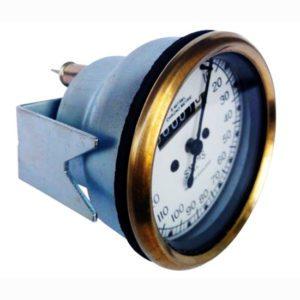 White face 10-150 mph speedometer brass bazel smith chrono metric