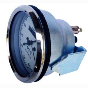 Chrome speedometer smith chrono metric (10-80 mph) with white face