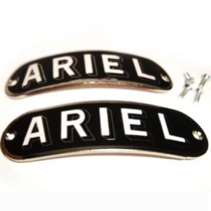 Pair of black colour chrome finish ariel decal